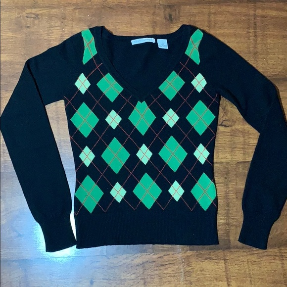 Autumn Cashmere Sweaters - Autumn Cashmere XS Argyle Sweater